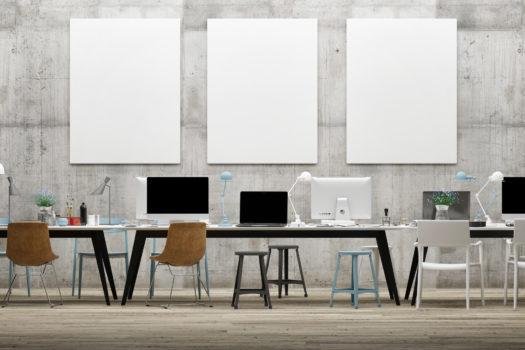 オフィスの実施図作成(AutoCAD)